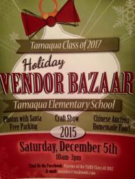 12-5-2015, Tamaqua Class of 2017 Holiday Bazaar, Gymnasium, Tamaqua Elementary School, Tamaqua