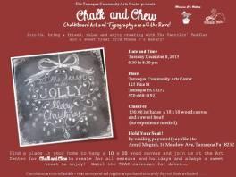 12-8-2015, Chalk and Chew, Tamaqua Community Arts Center, Tamaqua