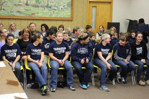 Junior High Football Team Recognized, Tamaqua Borough Council Meeting, Borough Hall, Tamaqua (1)