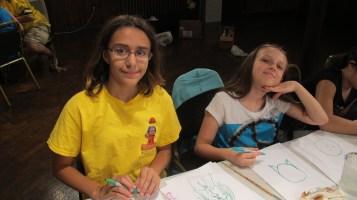 Stephen Bennett, Kids Portrait Painting Workshop, Community Arts Center, Tamaqua, 9-29-2015 (10)