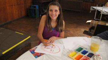 Stephen Bennett, Kids Portrait Painting Workshop, Community Arts Center, Tamaqua, 9-29-2015 (18)