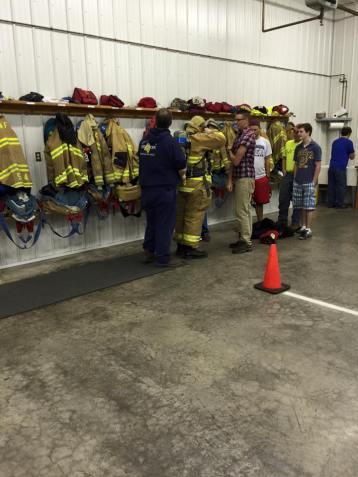 Tamaqua Salvation Army Youth Group Visits South Ward Fire Company, Tamaqua, 10-8-2015 (211)