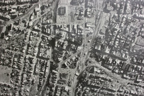 Aerial Photograph of Tamaqua, Borough Hall, Tamaqua, 1970s (82)