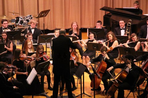Holiday Concert via Gabriel Youth Orchestra, Lengel Auditorium, Pottsville MS (12)