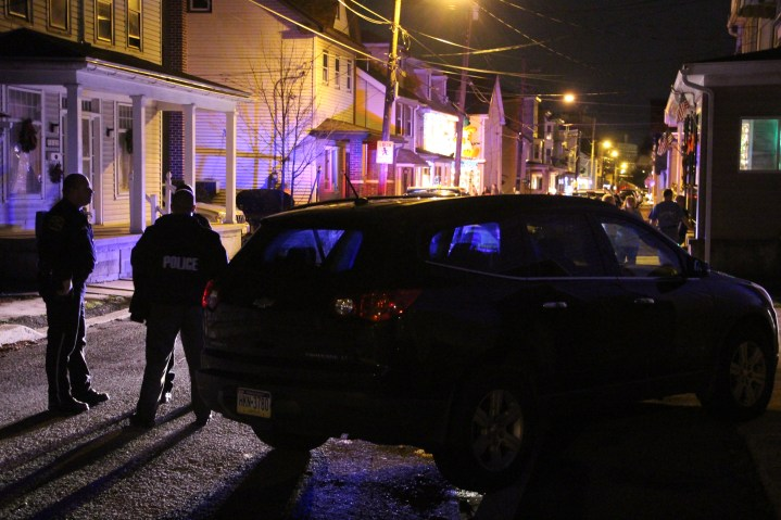 Police Chase, Stolen Vehicle, Rolling Mill Avenue, Tamaqua, 12-24-2015 (45)