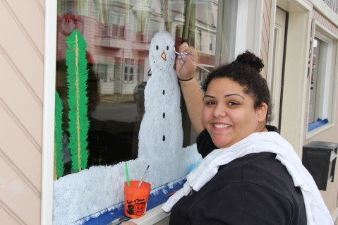 PV Students Paint Store Fronts, via Lansford Alive, Lansford, 12-11-2015 (1)
