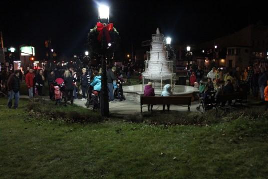 Santa Parade and Park Illumination, Depot Square Park, Tamaqua, 12-4-2015 (1)
