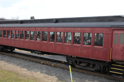 Santa Train Rides, via Tamaqua Historical Society, Train Station, Tamaqua, 12-19-2015 (129)