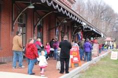 Santa Train Rides, via Tamaqua Historical Society, Train Station, Tamaqua, 12-19-2015 (19)