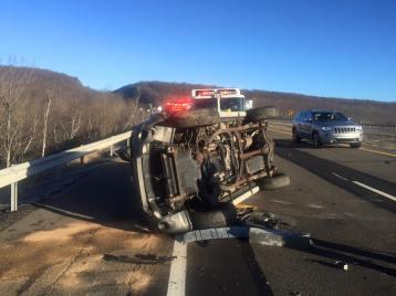 SUV Overturns, near mile marker 138, Kline Township, 12-6-2015 (2)