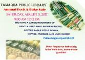 8-5-2017, Book Sale, Bake Sale, at Tamaqua Public Library, Tamaqua