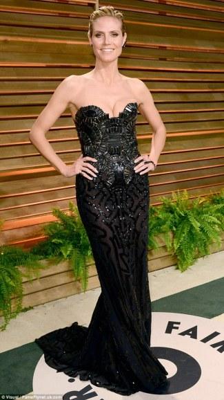 Heidi Klum wearing Versace