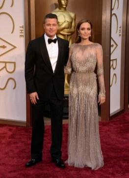 Brad Pitt & Angelina Jolie (wearing Elie Saab)