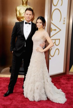 Channing Tatum & Jenna Dewan (wearing Reem Acra)
