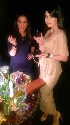 Sara Agah & Tamara Al Gabbani in the Marc Jacobs Decadence scent room