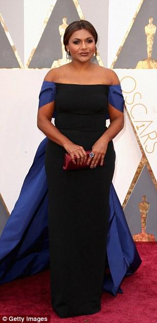 Mindy Kaling - in Elizabeth Kennedy - Oscars 2016