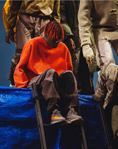 Yeezy 3rd Collection for Adidas - Yeezy Boost 350, with side stripe - New York Fashion Week