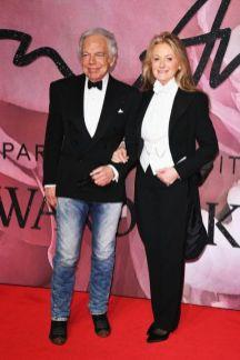 Ralph Lauren and Ricky Lauren - British Fashion Awards 2016