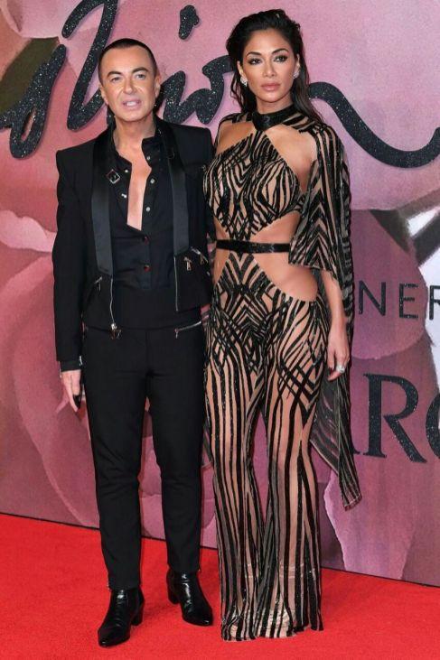 Julien Macdolnad and Nicole Scherzinger - British Fashion Awards 2016