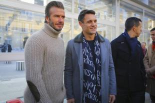 David Beckham - Front Row - Louis Vuitton Menswear Fall Winter 2017 Paris