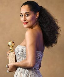 Tracee Ellis Ross - won Best Actress in a TV series for Blackish - Golden Globes 2017