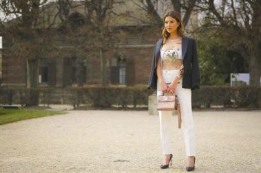 Negin Mirsalehi - Street Style Paris Couture Week SS17