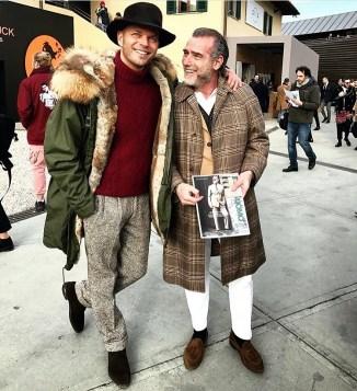 Luca Rubinacci & Alessandro Squarzi - Street Style - Pitti Uomo 91 - Florence Fall Winter 2017