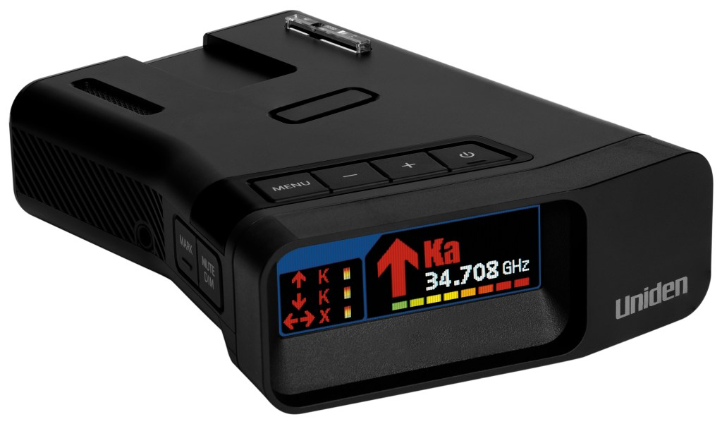 The New Uniden R7 Radar Detector will help to monitor speed and one of its benefits is to set a speed and alert you when you go above that speed #ad #Uniden