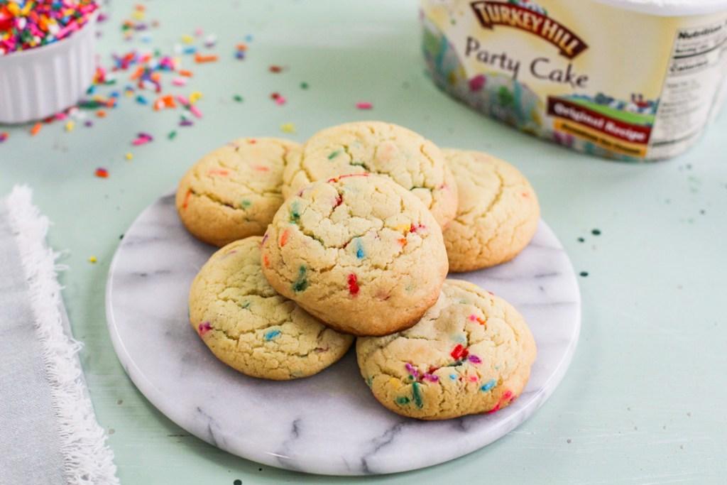 plate of warm cookies