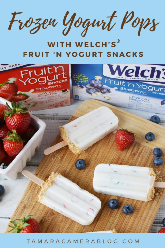 #ad These Frozen Yogurt Pops are incredibly cold, creamy and delicious, and are perfect for your back to school #WelchsFruitSnacks #WelchsFruitnYogurtSnacks