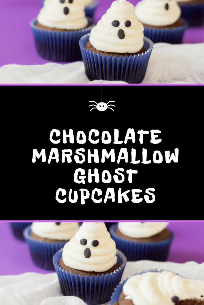 Raise your hand if you love marshmallow fluff! We do! And that's what helps make these amazing Chocolate Marshmallow Ghost Cupcakes! Spooky and delicious!
