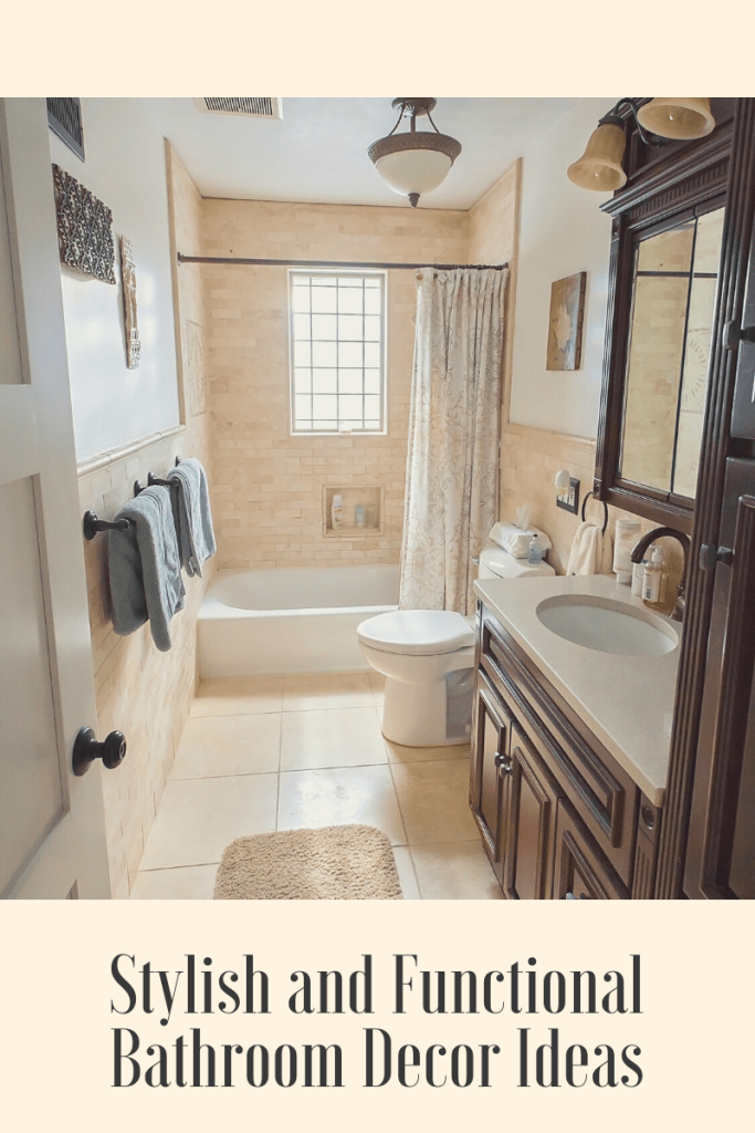 Stylish and Functional Bathroom Decor Ideas. If you're looking for ideas on how to decorate a bathroom or what products will make life easier.
