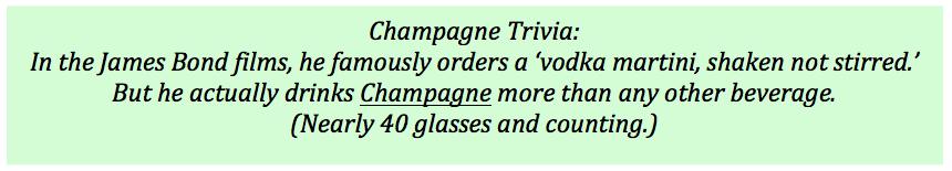 Bond Champagne Trivia