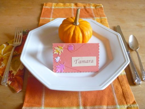 The Tamara Blog -- Stitched Placecards