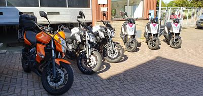 lesmotoren kawasaki er6 / Z650 - motorrijopleiding moto maestro