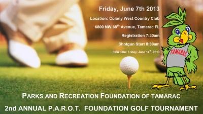 PAROT Golf Tournament Flyer 2013-1
