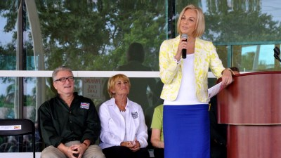 Mayor Beth Talabisco at Tamarac's 50th Anniversary Celebration last week