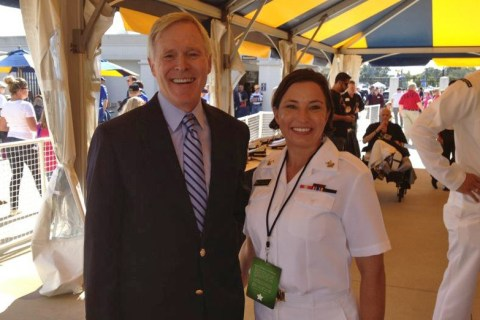 Author Brooke Knight with Ray Mabus, United States Secretary of the Navy