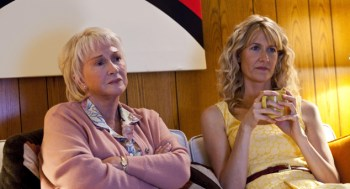Diane Ladd, left, and Laura Dern, real-life mother and daughter, appear in the HBO series