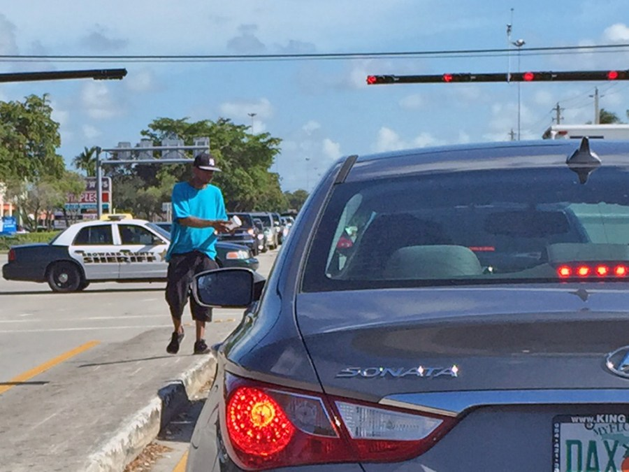 panhandling and street vendors may be a thing of the past soon on major corridors in Tamarac