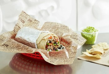 Burrito from Chipotle Mexican Grill
