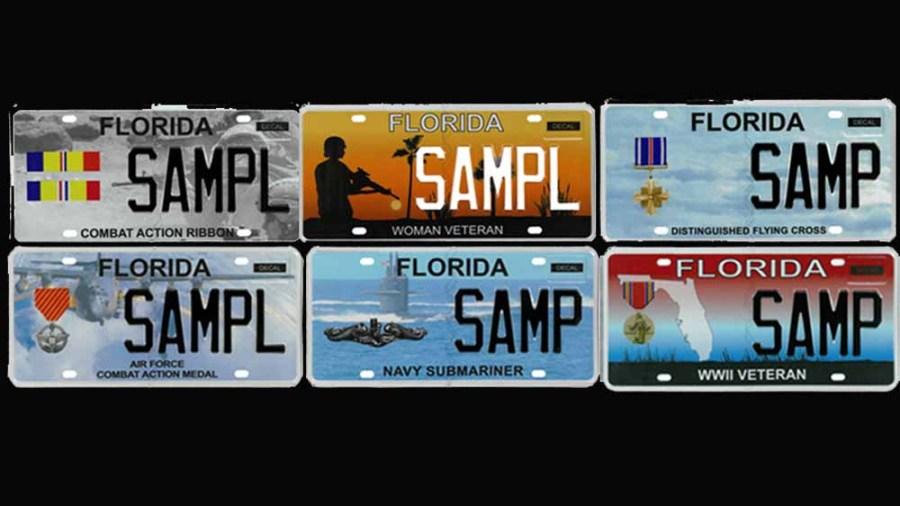 Florida-Military-Plates