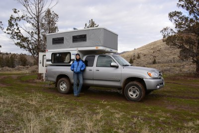 Tamara and the camper