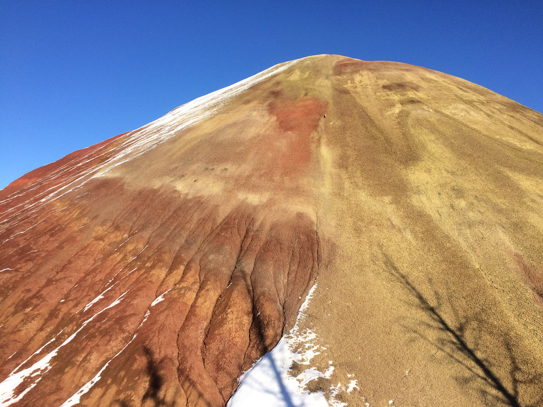 Painted Hills, Oregon, winter, snow