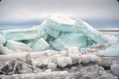 Cooper Island ice floes, aquamarine