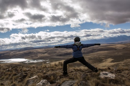 Thief Valley Reservoir yoga Warrior