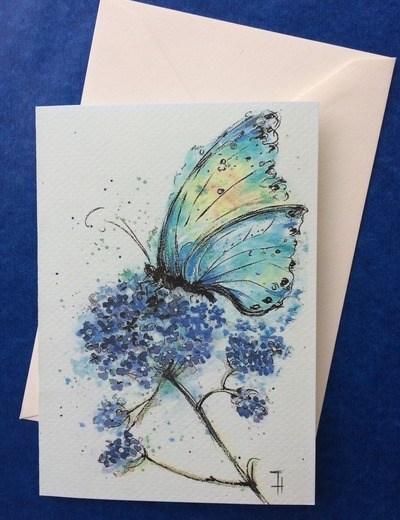 schmeterling blau-babochka golubay