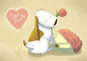 Valentine pup