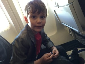 Charlie on the plane...