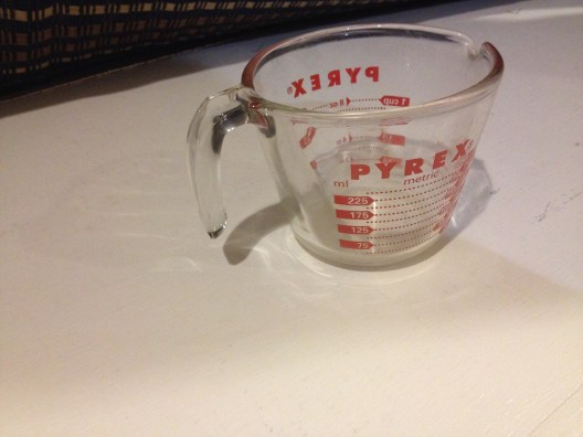 Pyrex Glass Measuring Cup (c. 1994) Exterior Red Painted Lines: 6,253 ppm Lead